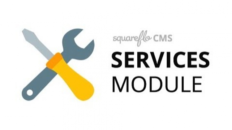 "How to use the ""Services"" module in Squareflo's CMS"