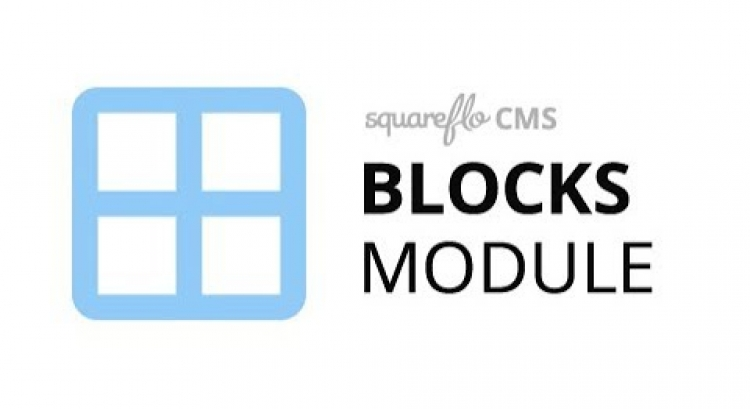"How to use the ""Blocks"" module in Squareflo's CMS"