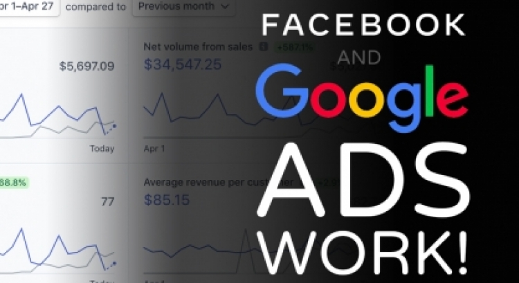 The incredible impact Google Ads & Facebook Ads can have on a site's traffic & online sales.