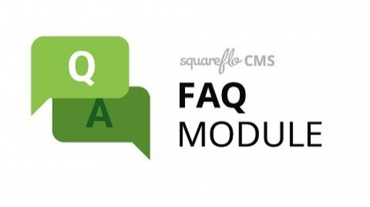 "How to use the ""FAQ"" module in Squareflo's CMS"