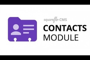"How to use the ""Contacts"" module in Squareflo's CMS"