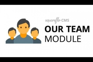 "How to use the ""Our Team"" module in Squareflo's CMS"