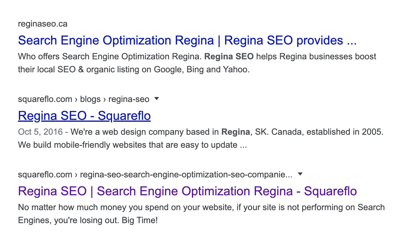 Top 3 Regina SEO Companies on Google