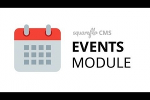 "How to use the ""Events"" module in Squareflo's CMS"